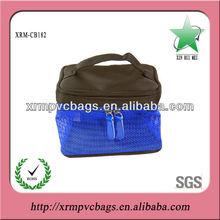 Fashion girls zip cosmetic bags mesh
