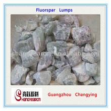 CaF2 90%min high grade Natural Fluorspar lumps