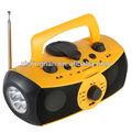 多機能usbクランクダイナモmp3プレーヤー・照明ラジオ・緊急充電器