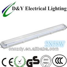 weatherproof lamp B series 2x58w fluorescent lighting fitting