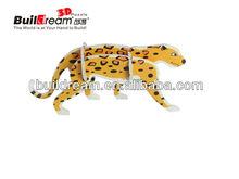 3d puzzle toy Leopard model