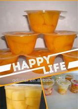Tasty & healthy fruit in plastic cup