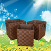 Durable brown hot sale rectangular laundry basket in high quality
