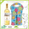 Full Colour Sublimation Neoprene Double Bottle Wine Tote Bag
