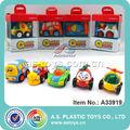 Encantador dos desenhos animados de plástico crianças pequenos carros de brinquedo