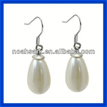 new stainless steel pearl dangle earring
