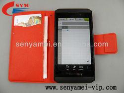 Hot sale mix color style wallet case for Blackberry Z10 , for Blackberry Z10 leather case
