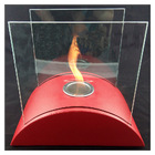 table glass ethanol fireplace indoor & outdoor table fire 028