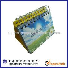 2013 diy promotion desktop calendar printing
