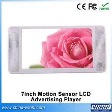 7 inch lcd supermarket USB SD CF card multi language PIR sensor display board lcd ads monitor