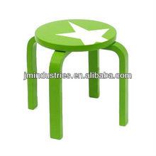 kids solid wood round stool