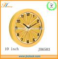 Hermoso regalo de plástico reloj de pared promation relojes de cuarzo en la pared reloj