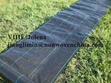 weed control black woven fabric mulch