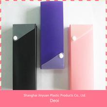 Polypropylene Plastic pencil case with button