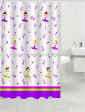 Full printing 70*72'' custom printed hookless shower curtains