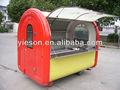 Venda quente de venda de comida de os carros com 4 pequenas rodas