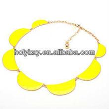 Sunshine necklace, half round shape middle eastern choker unique necklace jewelry