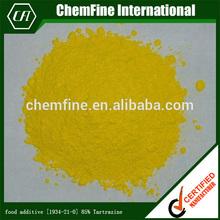 food additive [1934-21-0] 85% Tartrazine