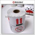 Papel de arte brillante resistente al agua de envío de la gota etiqueta/cuidado de la etiqueta de la impresora