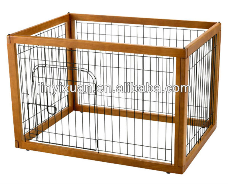 Hot sales! Wooden dog cage with wood frame / stainless steel dog cage / pet house