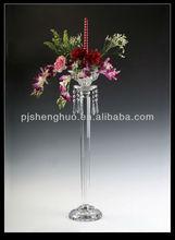 tall wedding crystal flower stand SH-053