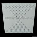 600x600 abgeschnitten gelochtem aluminium akustischen bord