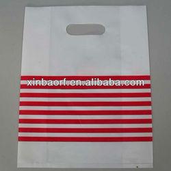 Die cut handle plastic shopping bags