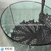 High quality modern metal stair railings toughened glass