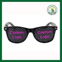 Cheap promotional printed lens pinhole sunglasses bisou bisou eyewear