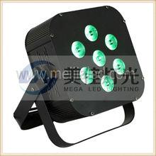 7 x 10W 4in1 rgbw quad color mini led par can light led thin par