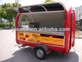 Barato móvil carros de comida rápida carros de comida para la venta de alimentos caravana ys-fv300