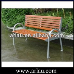 Outdoor rest metal wooden bench with armret and backrest FW27