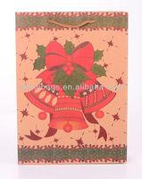 Christmas brown paper bag packaging cheap paper shopping bags butcher paper bag