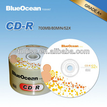 original blank cd 700MB for sale grade A with 52x running speed and 80 min time in pallet package