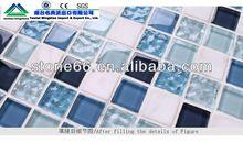 CN hotsale round black glass mosaic tile