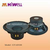 4inch 300W rated powered pro bass speaker