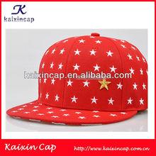 custom colorful print little stars blank flat brim snapback cap/hat with fringe Snapback beaie Hat