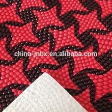foam pvc leather (orange peel) knit fabric