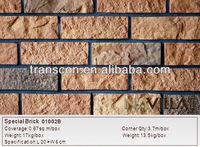 artificial brick veneer house siding decorative wall cladding 01002b