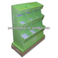 custom design cardboard floor basketball display stand