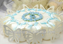 triangle joining cake shape candy box wedding cupcake package
