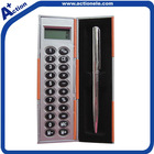 digital calculator with sticky note pen box for promotional