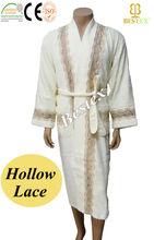 Lace Satin Plus size King Cotton Bath Dressing gowns for sale