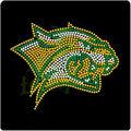 Jaguares equipo de fútbol de rhinestone caliente del arreglo de las plantillas para los deportes t- camisetas de la decoración