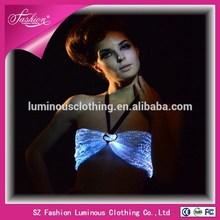 hot sexy women fibre optical fabric luminous costume/luminous bra