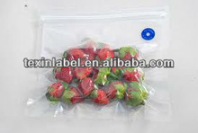 heat seal vacuum bag for food package with zipper