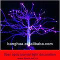 fibra óptica de luz luz bonsai decoração