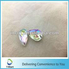 crystal acrylic beads teardrop crystal faceted design