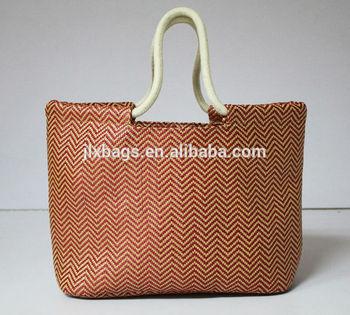 2014 fashional straw ladies handbag and tote bag made in China
