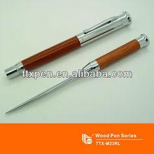 TTX-M23L Practical wooden letter opener pen, function pen